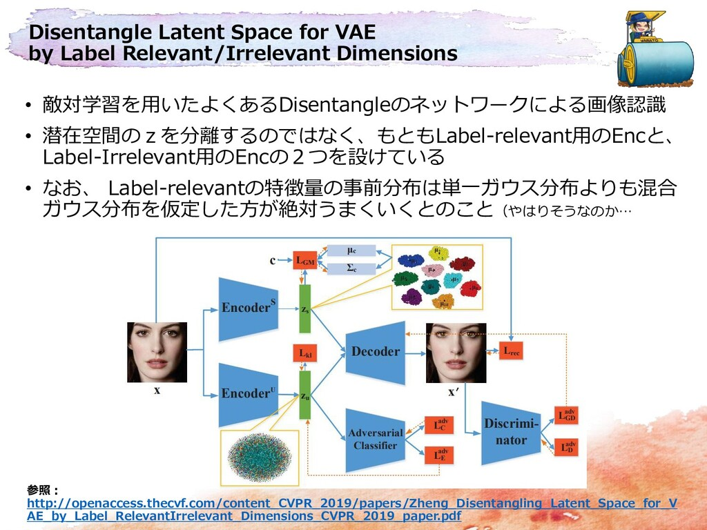 Disentangle Latent Space for VAE by Label Relev...