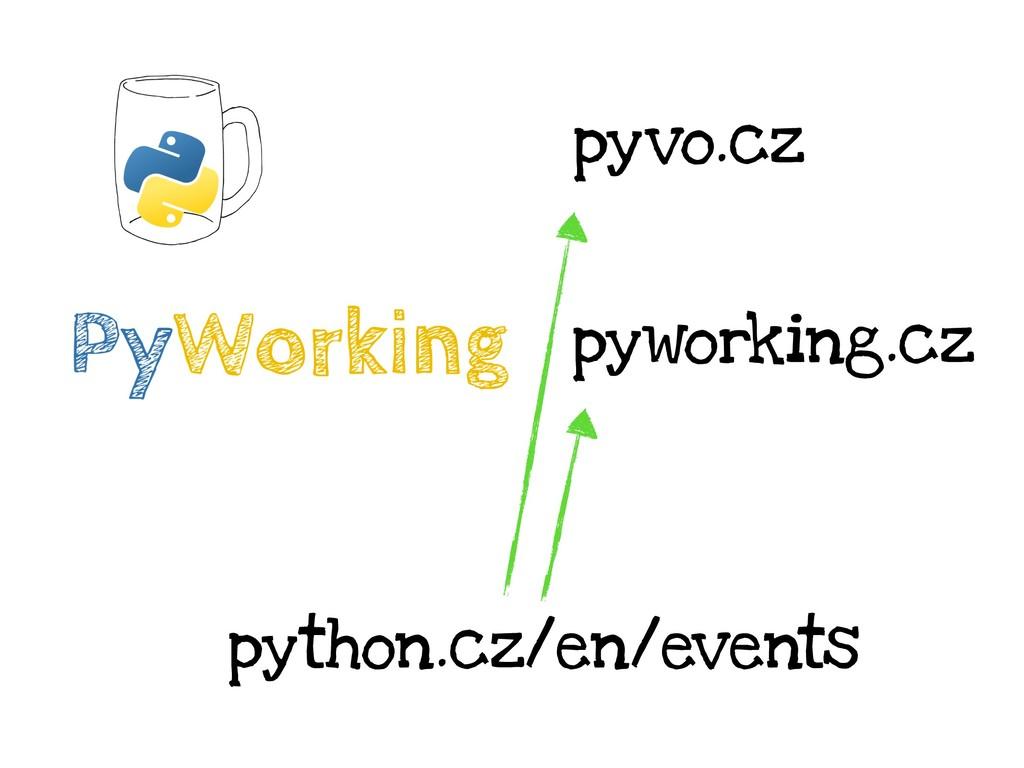 pyvo.cz pyworking.cz python.cz/en/events