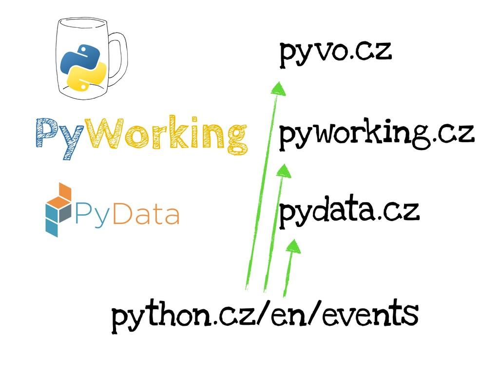 pyvo.cz pyworking.cz python.cz/en/events pydata...