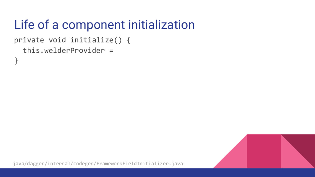 Life of a component initialization private void...