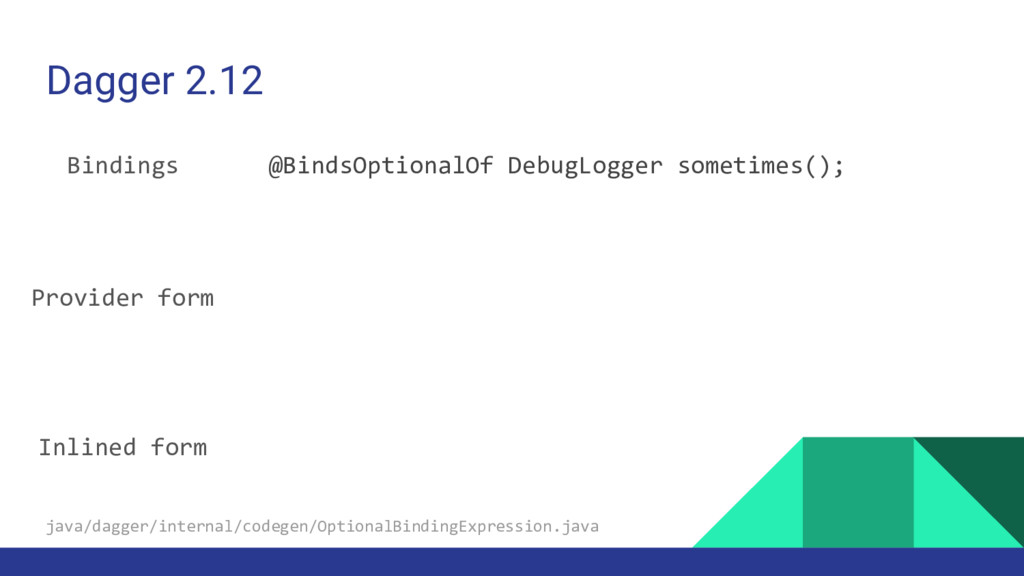 Dagger 2.12 Bindings Provider form Inlined form...