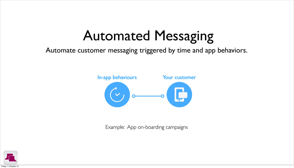 Automate customer messaging triggered by time a...