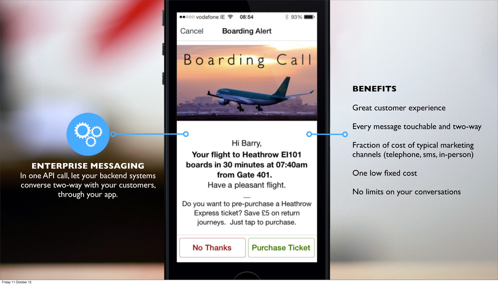 ENTERPRISE MESSAGING In one API call, let your ...