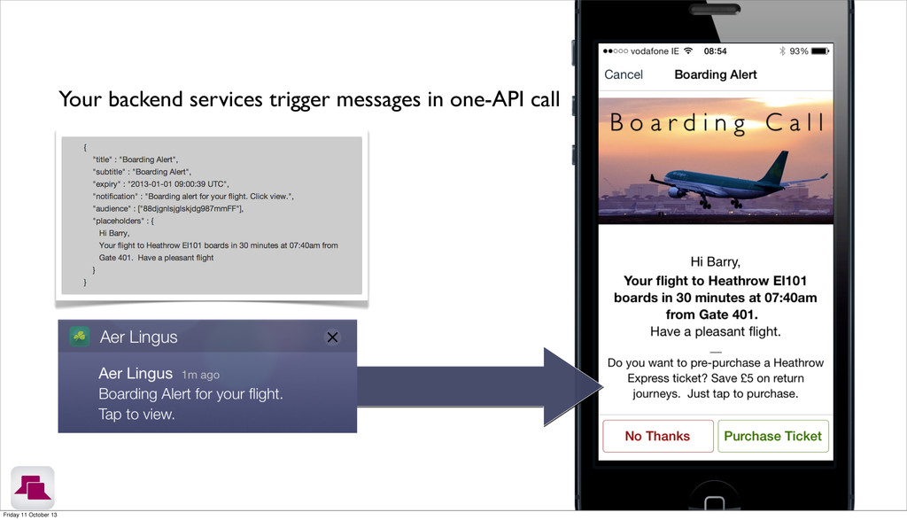 Your backend services trigger messages in one-A...