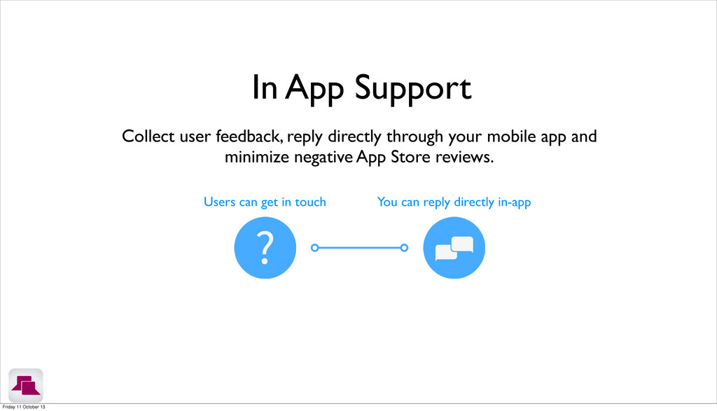 Collect user feedback, reply directly through y...