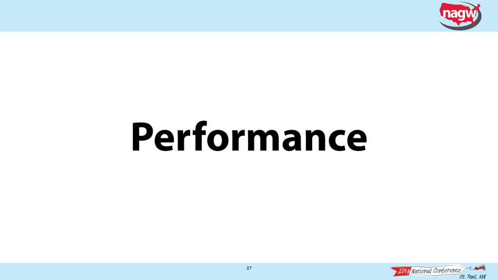 Performance 27