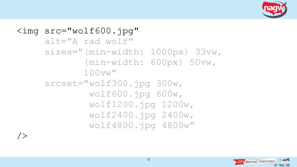 "72 <img src=""wolf600.jpg"" alt=""A rad wolf"" size..."