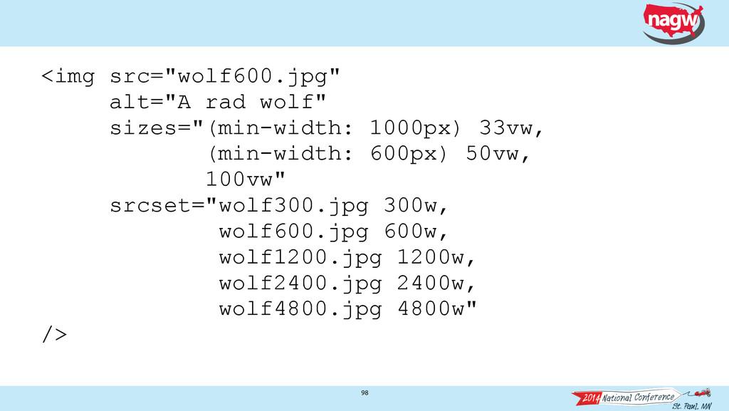 "98 <img src=""wolf600.jpg"" alt=""A rad wolf"" size..."