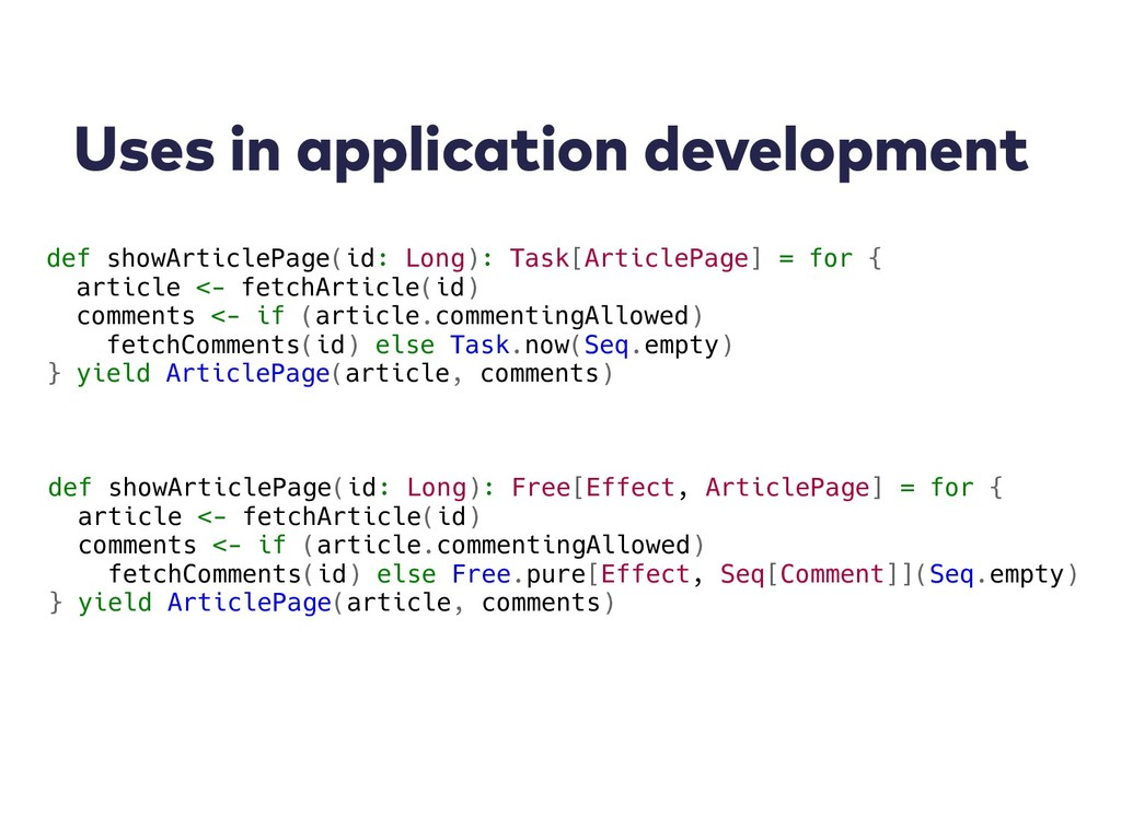 Uses in application development def showArticle...