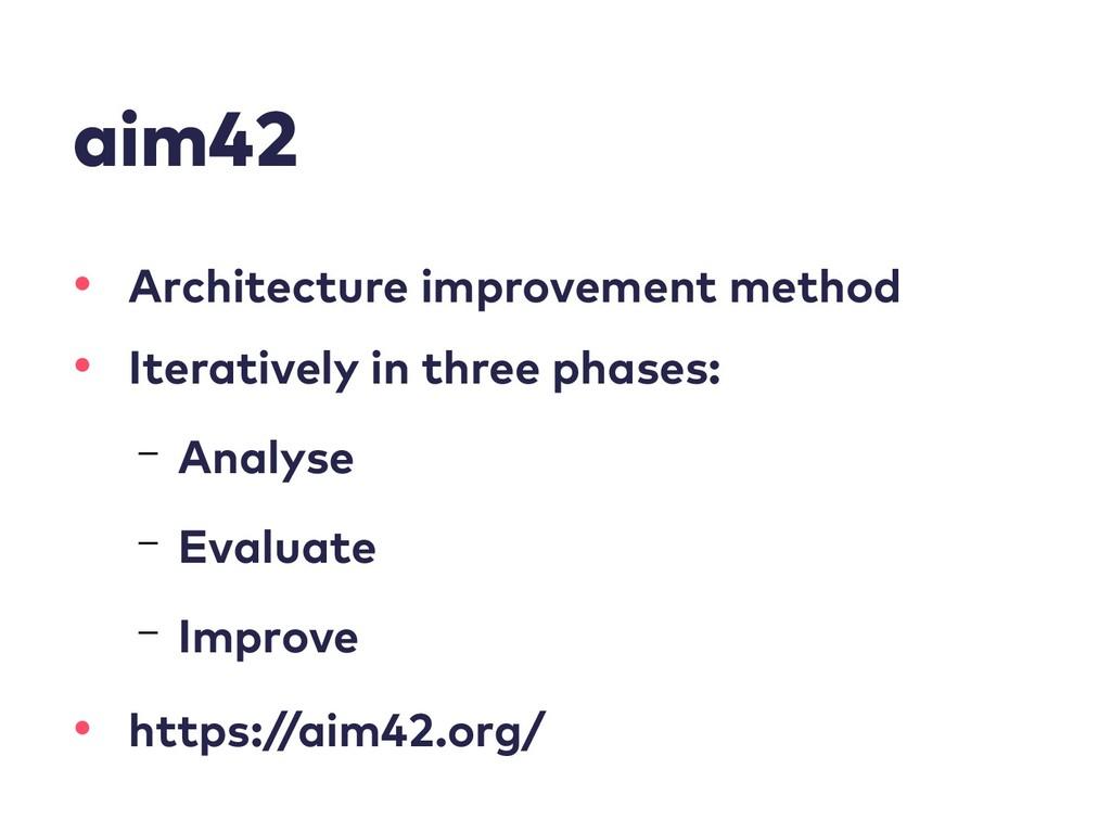 aim42 • Architecture improvement method • Itera...
