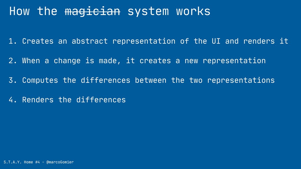 How the magician system works S.T.A.Y. Home #4 ...