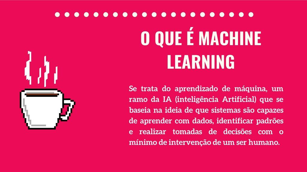 Se trata do aprendizado de máquina, um ramo da ...