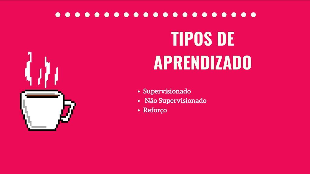 Supervisionado Não Supervisionado Reforço TIPOS...