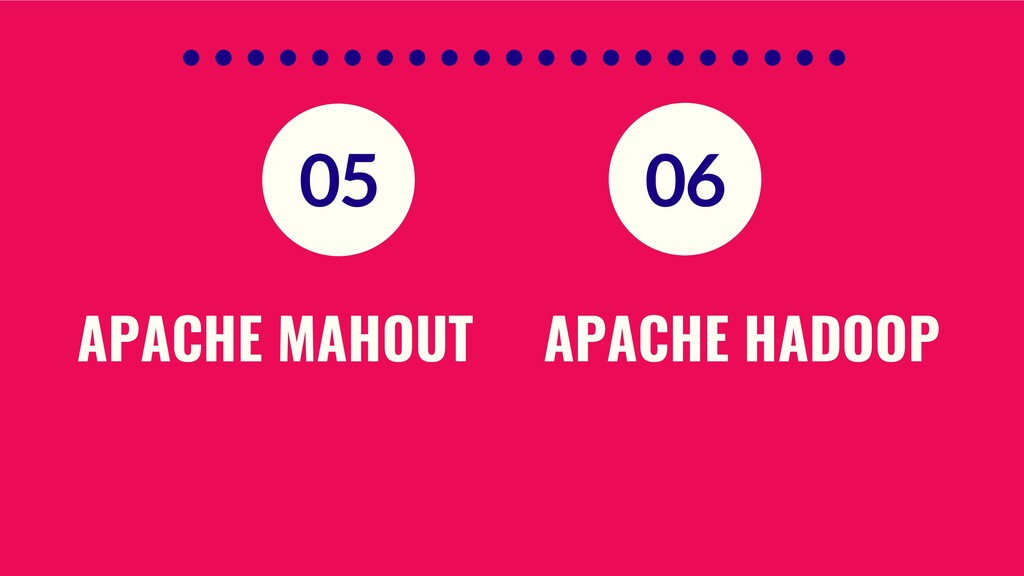 APACHE MAHOUT APACHE HADOOP 05 06