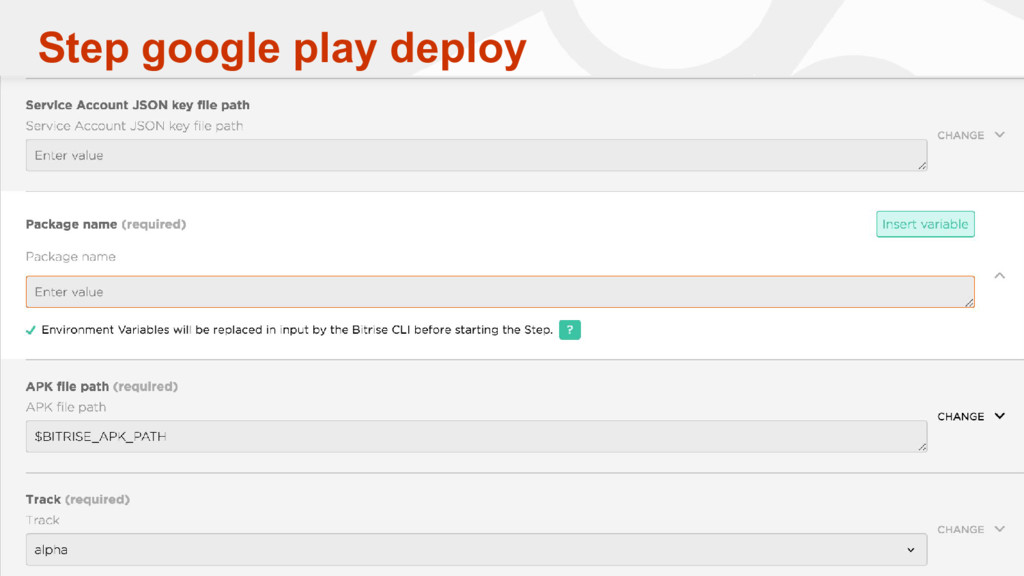 Step google play deploy