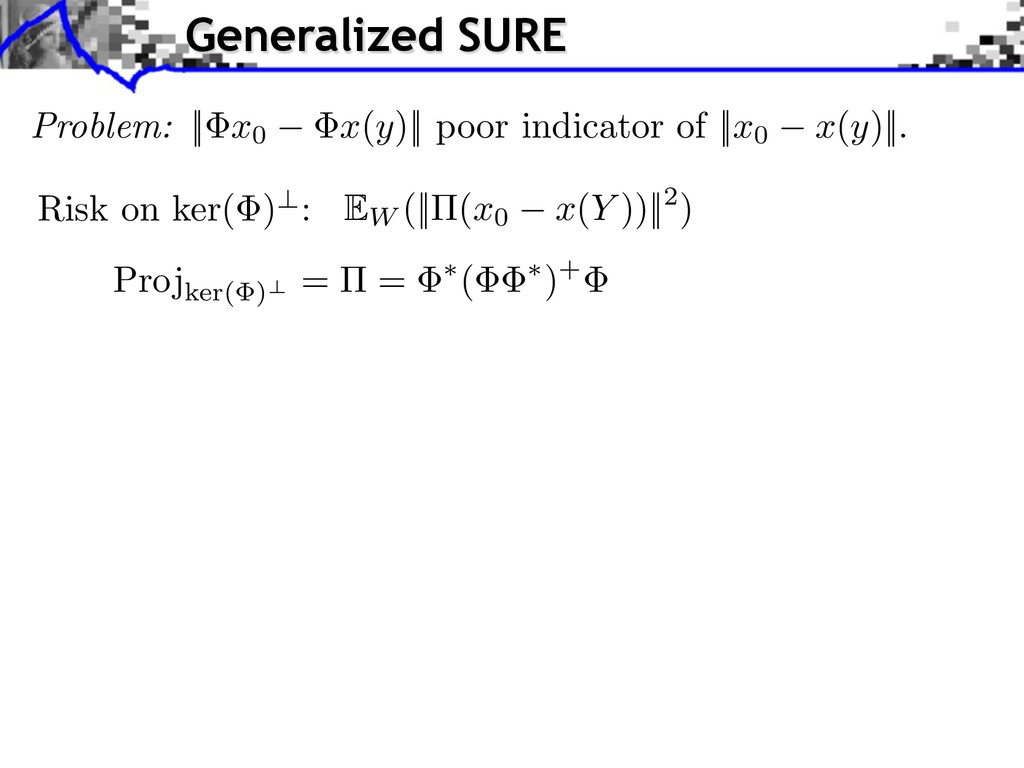 Problem:    x0 x(y)    poor indicator of    x0 ...