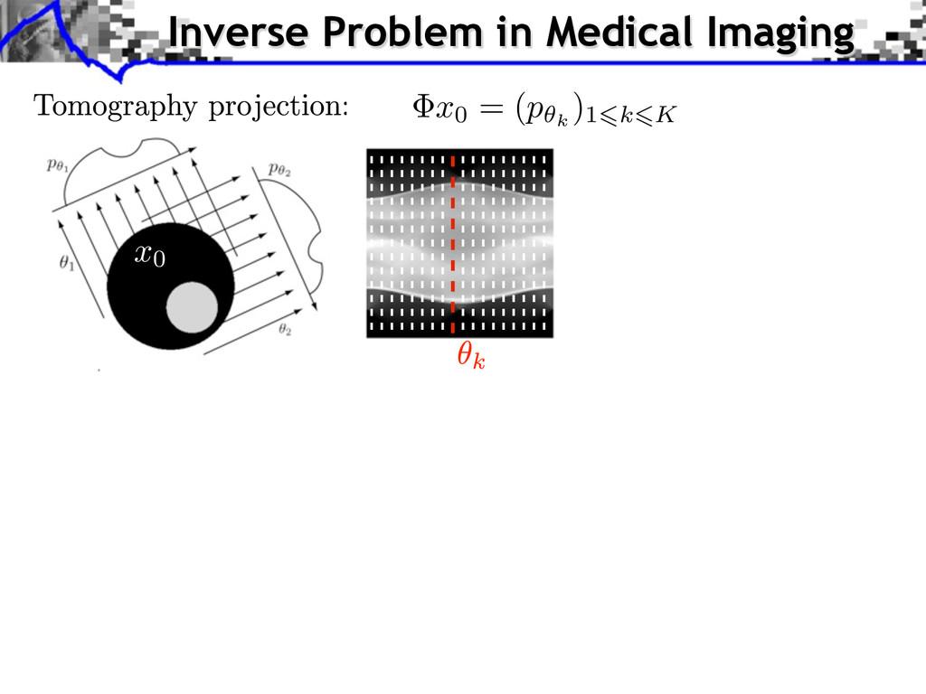 x0 = ( p✓k )16k6K Inverse Problem in Medical Im...