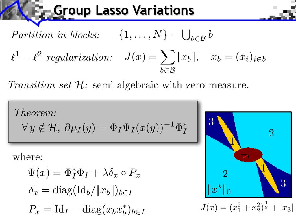 Theorem: `1 `2 regularization: J ( x ) = X b2B ...