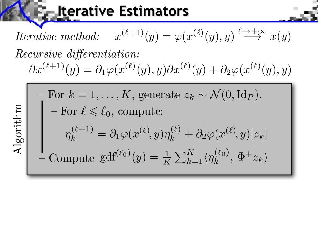 Iterative method: Recursive di↵erentiation: @x ...
