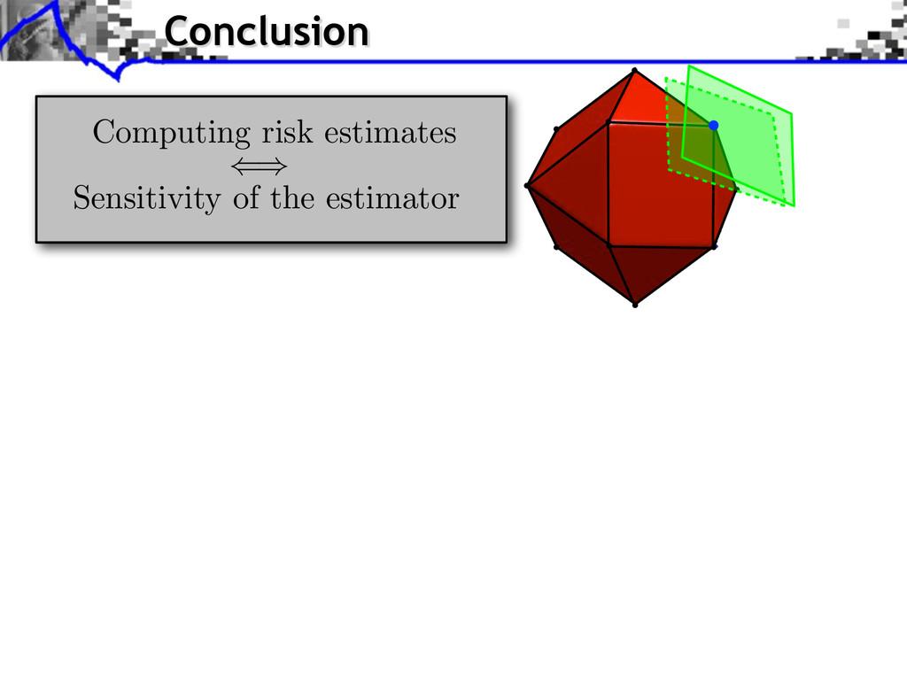 Computing risk estimates () Sensitivity of the ...
