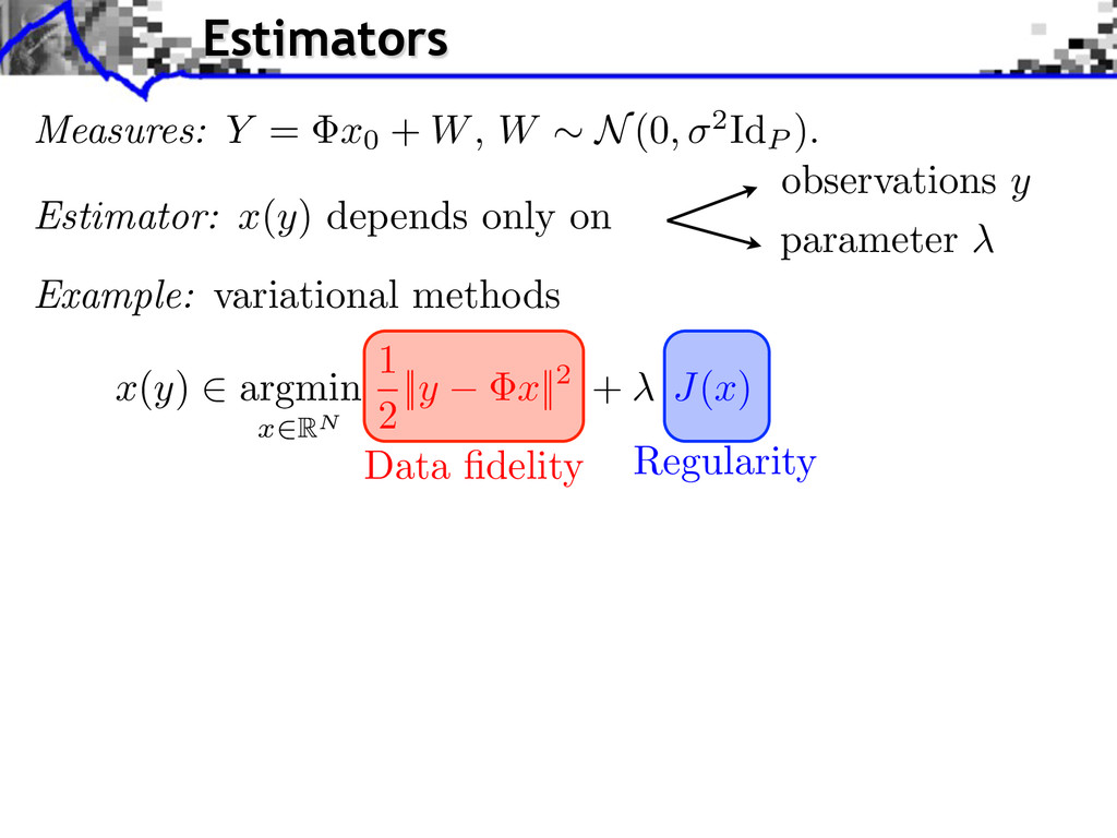 observations y parameter Example: variational m...