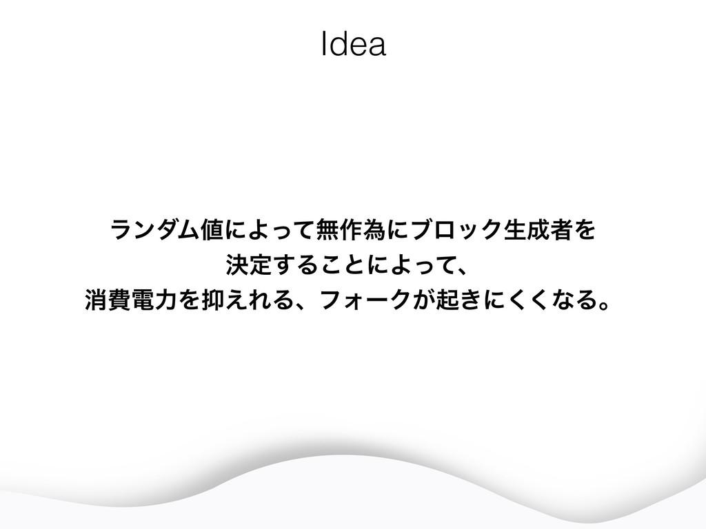 Idea ϥϯμϜʹΑͬͯແ࡞ҝʹϒϩοΫੜऀΛ ܾఆ͢Δ͜ͱʹΑͬͯɺ ফඅిྗΛ...