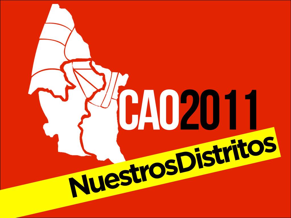 CAO2011 NuestrosDistritos