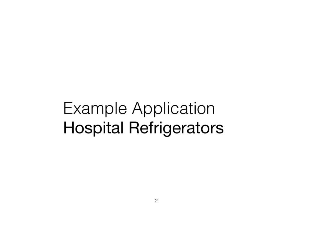 Example Application Hospital Refrigerators 2