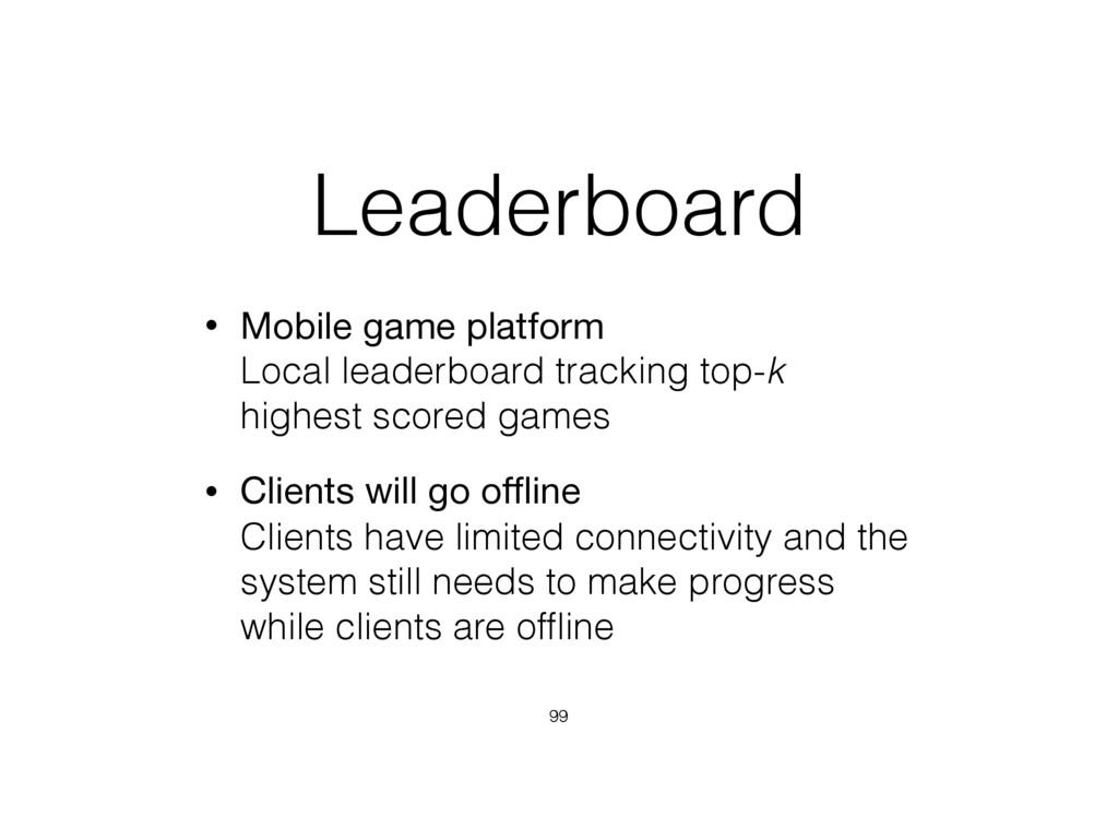 Leaderboard • Mobile game platform Local leade...