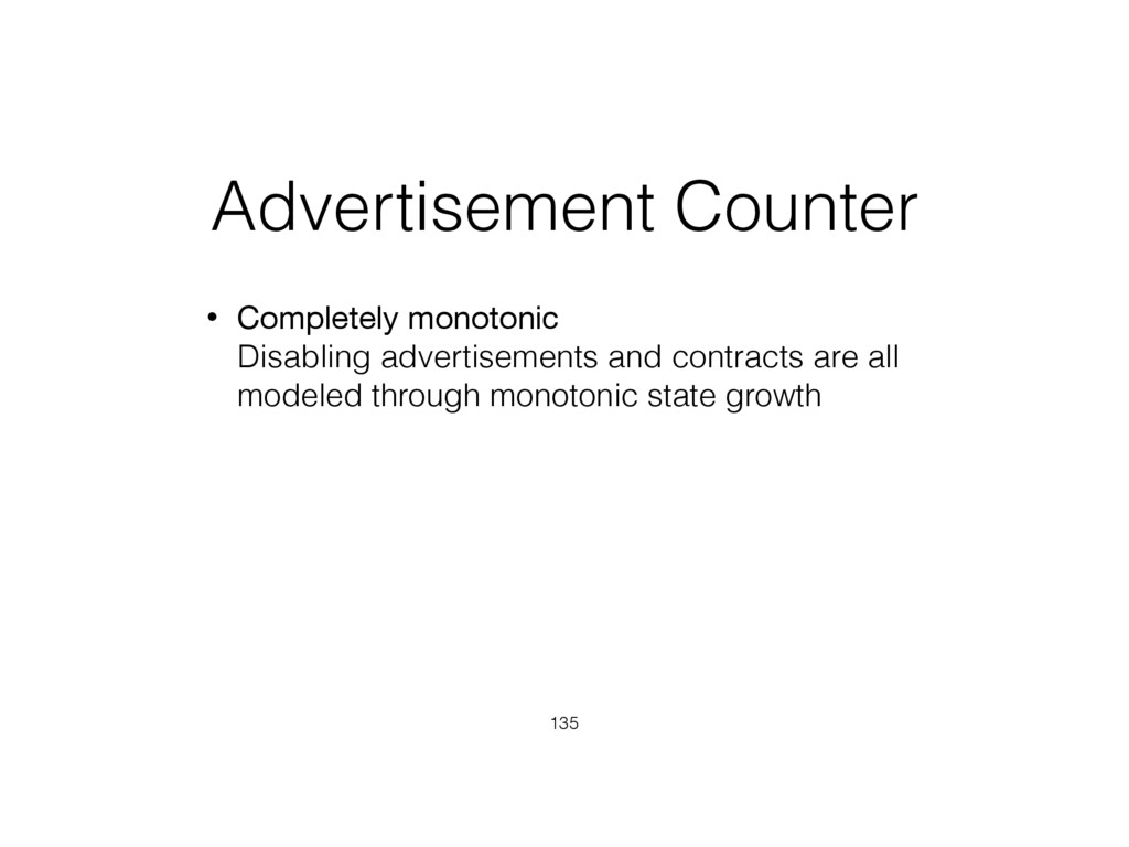 Advertisement Counter • Completely monotonic D...
