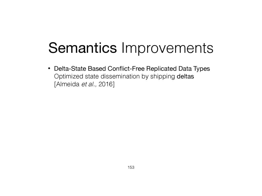 Semantics Improvements • Delta-State Based Confl...