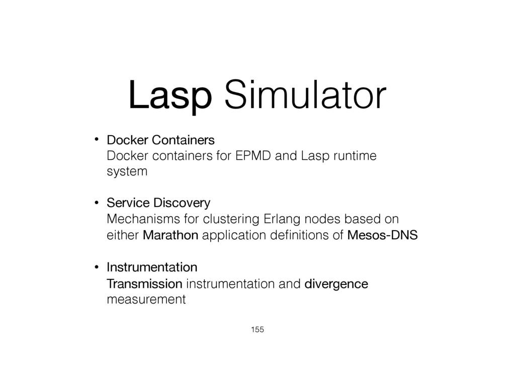 Lasp Simulator • Docker Containers Docker cont...