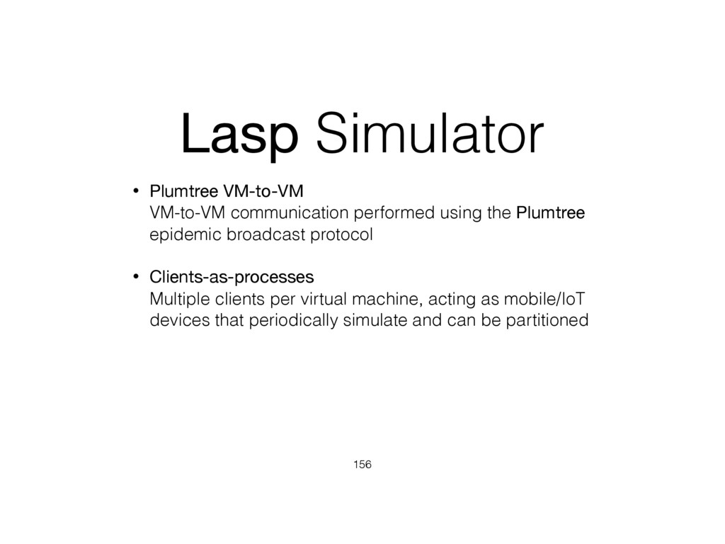 Lasp Simulator • Plumtree VM-to-VM VM-to-VM co...