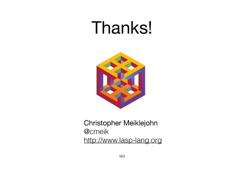 164 Christopher Meiklejohn  @cmeik http://www.l...