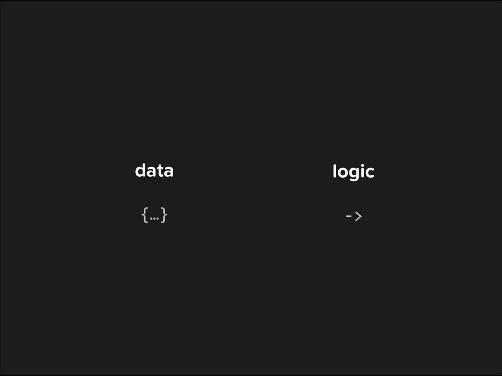 data logic {…} -‐>