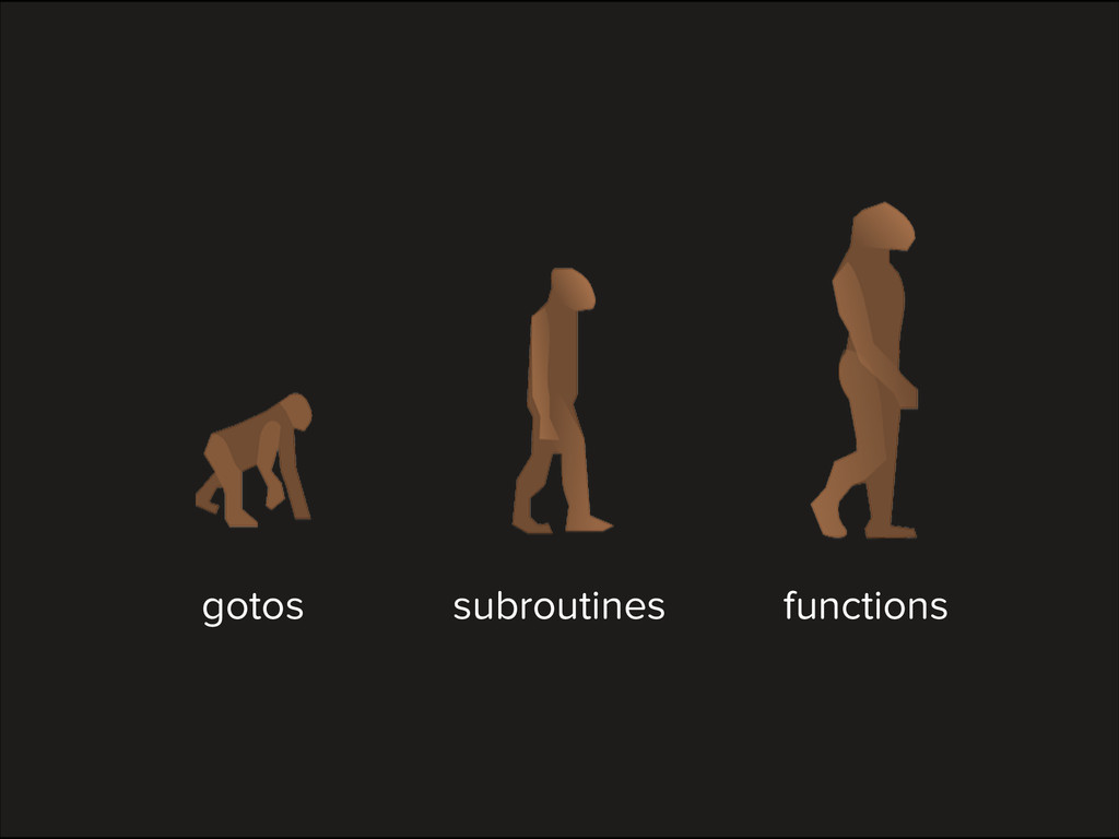 gotos subroutines functions
