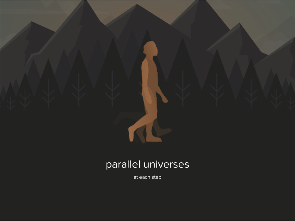 parallel universes at each step