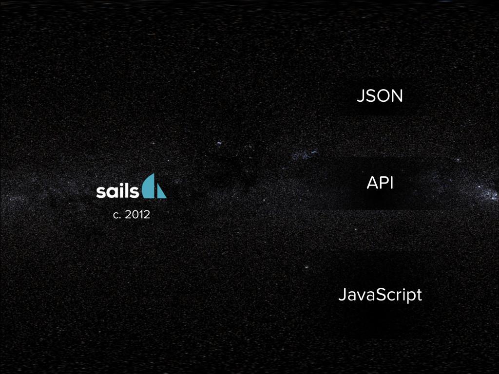 JSON API JavaScript c. 2012