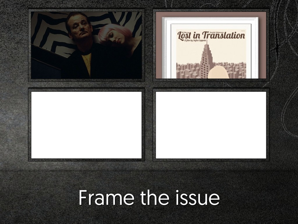 Basically Frame the issue