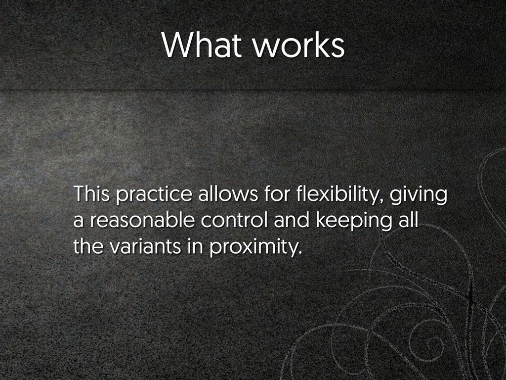 This practice allows for flexibility, giving a ...