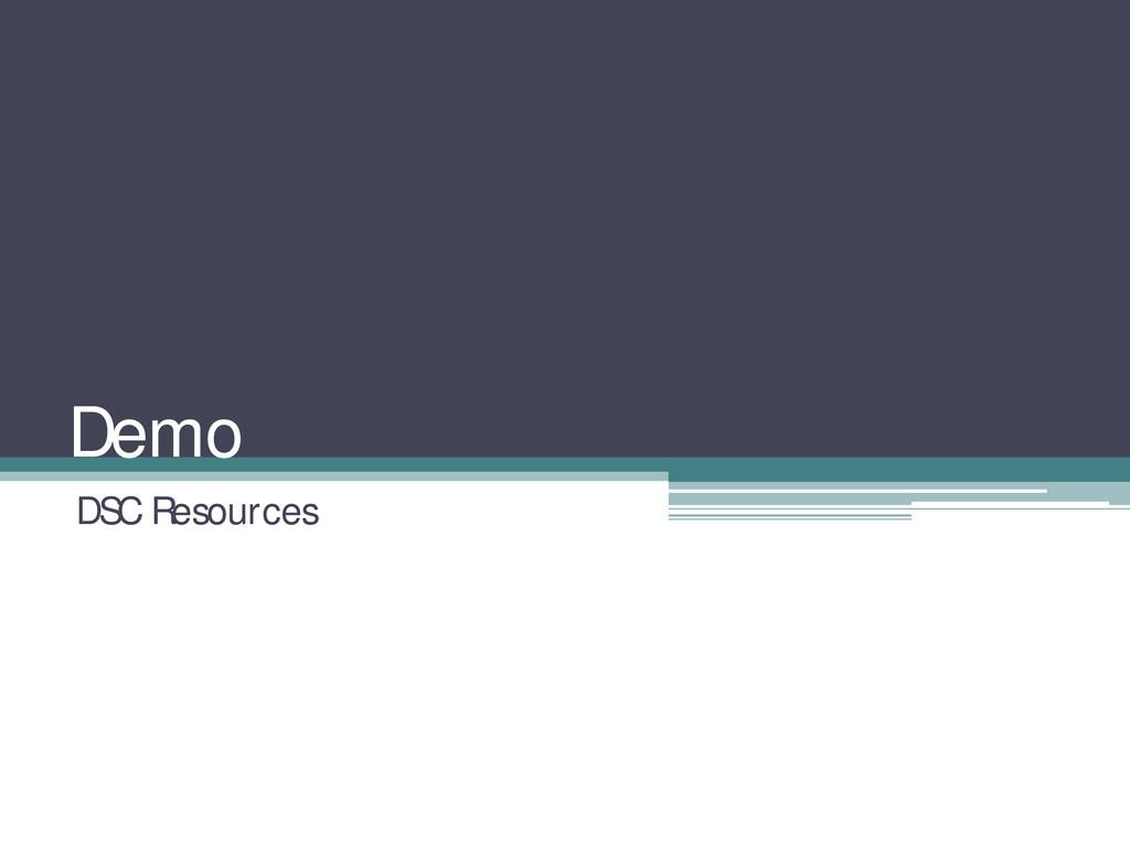 Demo DSC Resources
