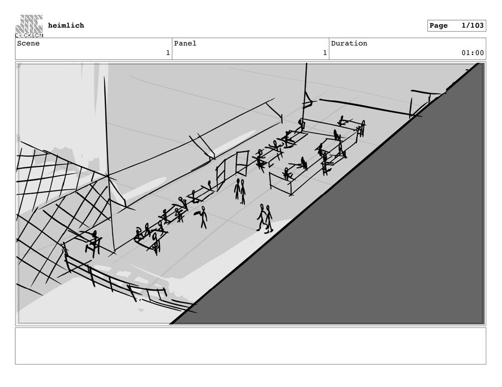 Scene 1 Panel 1 Duration 01:00 heimlich Page 1/...