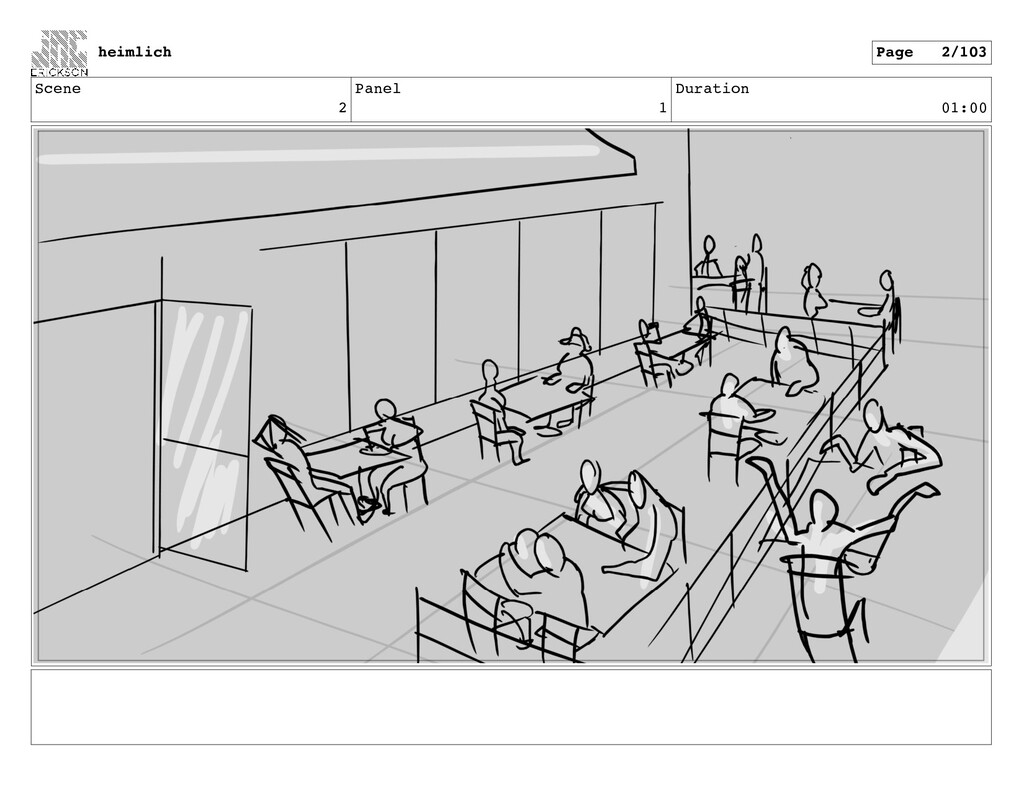 Scene 2 Panel 1 Duration 01:00 heimlich Page 2/...