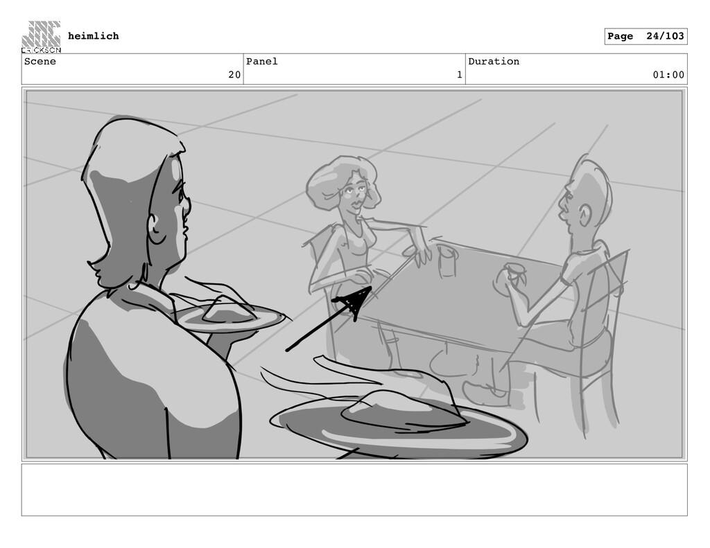 Scene 20 Panel 1 Duration 01:00 heimlich Page 2...