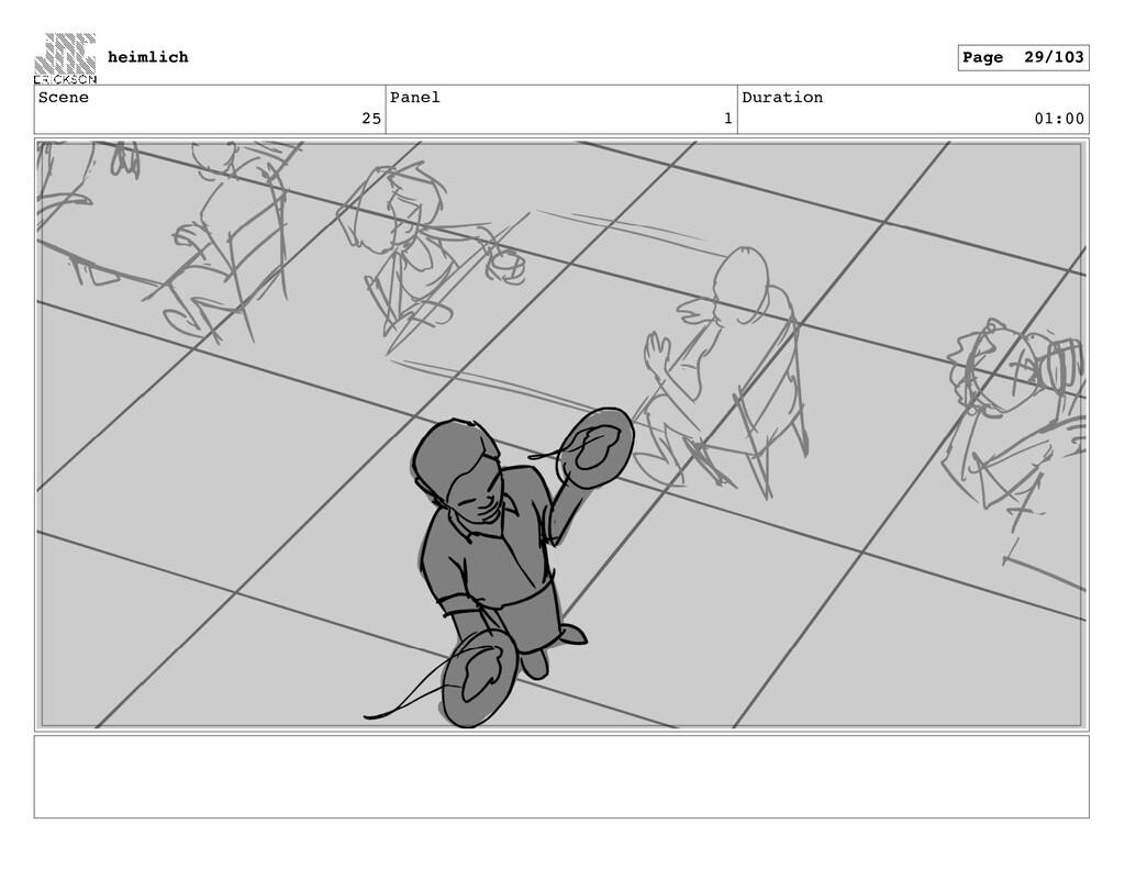 Scene 25 Panel 1 Duration 01:00 heimlich Page 2...