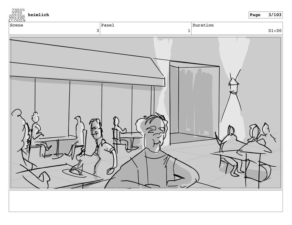 Scene 3 Panel 1 Duration 01:00 heimlich Page 3/...