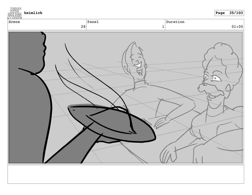 Scene 28 Panel 1 Duration 01:00 heimlich Page 3...