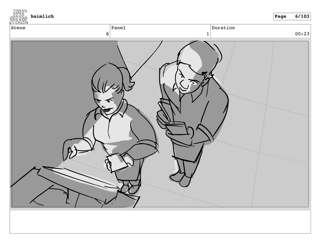 Scene 6 Panel 1 Duration 00:23 heimlich Page 6/...