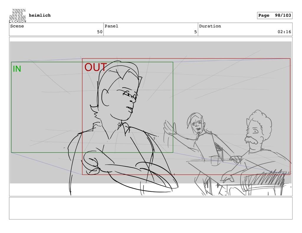 Scene 50 Panel 5 Duration 02:16 heimlich Page 9...