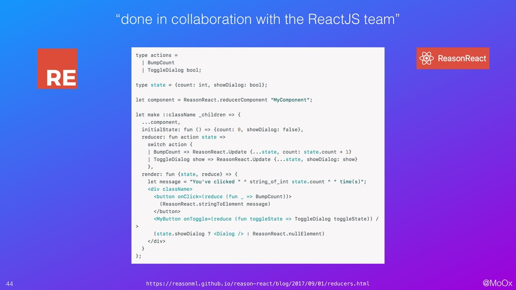 """@MoOx """"done in collaboration with the ReactJS t..."""